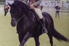 Waterside Black Magic ridden by Stephanie Sharp